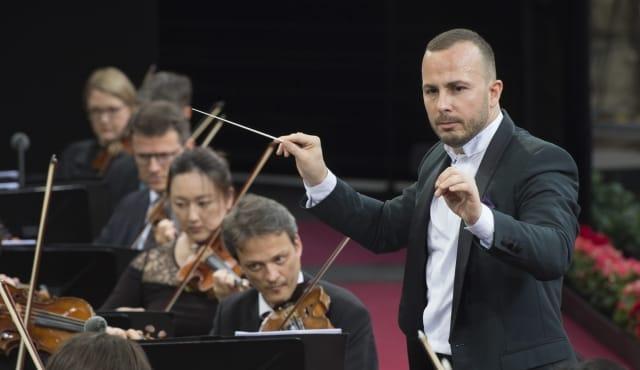 Yannick Nézet-Séguin et l'orchestre philharmonique de Berlin