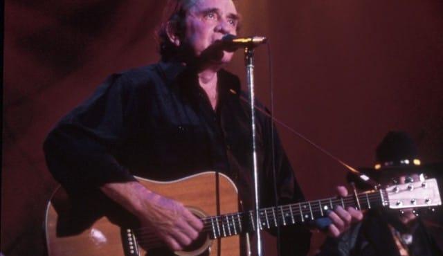 Johnny Cash en concert à Montreux