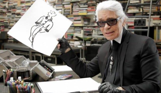 Karl Lagerfeld se dessine